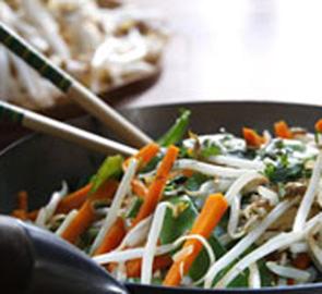 comment cuire legumes wok