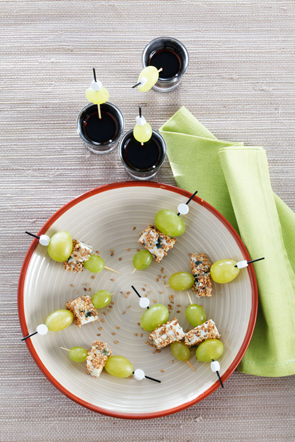 Brochettes de raisin italia au roquefort