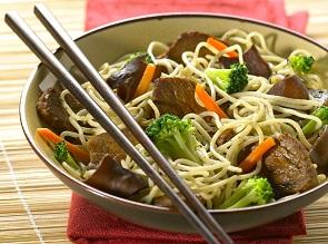 Recette Nouilles Chinoises Au Boeuf Et Aux Legumes Pour 4 Personnes