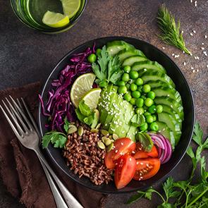 Recette Salade de riz rouge de Camargue pour 4 personnes - GRAND FRAIS 1a60b9438e7
