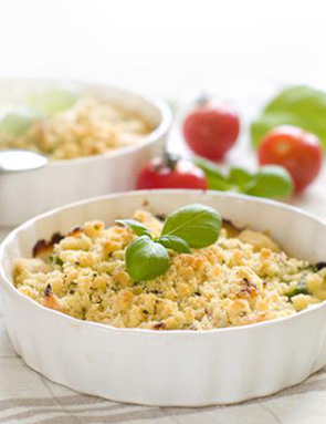 Crumble courge et cantal