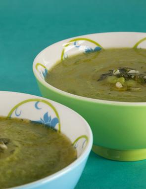 Recette soupe de petits pois citron menthe pour 4 personnes grand frais - Soupe petit pois menthe ...